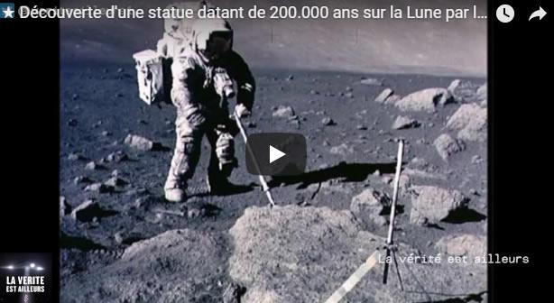 Découverte d'une statue datant de 200.000 ans sur la Lune par la mission Apollo 11 - Journal Pour ou Contre