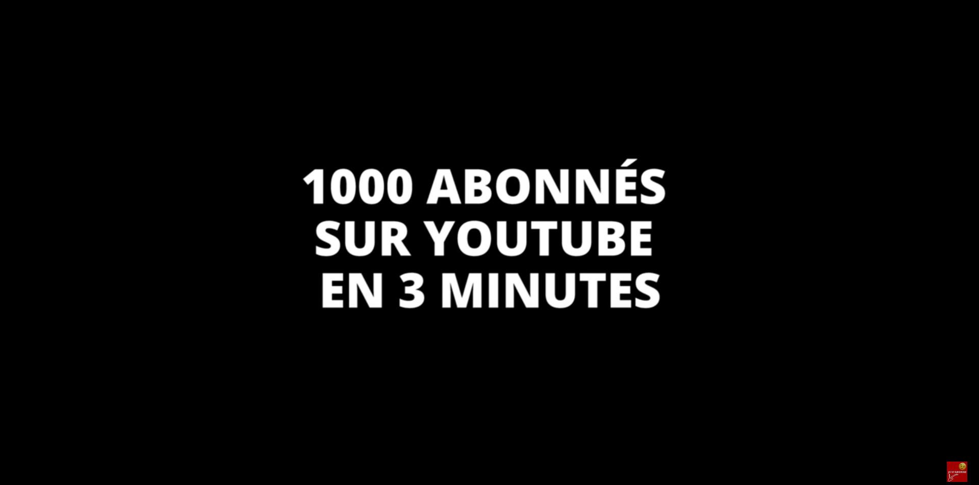1000 ABONNÉS SUR YOUTUBE EN 3 MINUTES : MÉTHODE MÉCONNUE EN 2021 (GAGNER DE L'ARGENT)